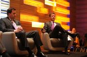 Brent Hanson of Wells Fargo & Co. (left) and Bill Katter of United Poperties