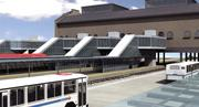 A rendering of the Union Depot Multimodal Transit Center