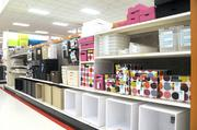 Target likes to mix generic products, such as the organizers on the bottom shelf, along with trendier items.