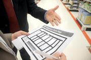 Target has printed maps so that customers can understand the changes taking place during the remodel.