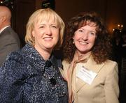 Colleen Connors, left, and Dede Cipran, both of Blue Cross Blue Shield of Minnesota; Connors, senior vice president of human resources and facilities, was named an Industry Leader.