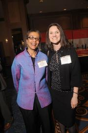 Joanne Jones-Rizzi, left, and Leah Dixon, both from the Science Museum of Minnesota
