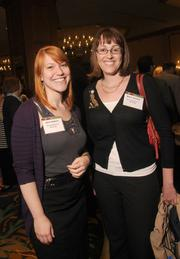 Julia Halpern, left, and Marie Ozanne, both of the Science Museum of Minnesota.