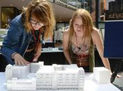 Looking over the Ryan project are Samantha Rolph and Alissha Ames, both interior design students at The Art Institutes Inernational Minnesota.