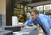 """Peter Bruce, founder and organizer of the """"Building Community Exhibition."""""""