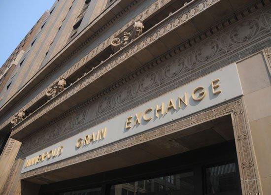 The entrance to theMinneapolis Grain Exchange