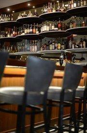 A look at the liquor behind the bar.