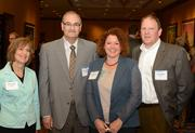 From left to right: Carol Haller, Brian Sorum, Cirsten Paine and Larry Mayer, all with Medica.