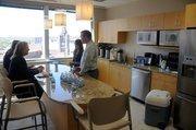 Employee kitchen.