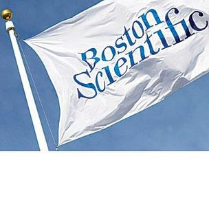 Photo of Boston Scientific flag in breeze.