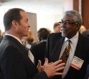Morris Goodwin (right),CFO of Amherst H. Wilder Foundation