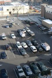 This parking lot would be the future home of theMoZaic addition.