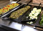 There are lots of salads from which to choose.