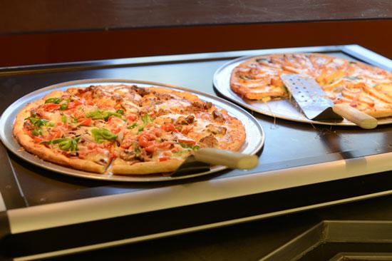 Pizza is available every day at Aveda's Cafe Organica.