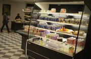 Grab-and-go food is available at the cafeteria at Aveda.
