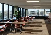 The cafeteria can seat 200 people and is more than 14,000 square feet.