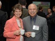 Susan Johnson, director of human resources at Northeast Bank, and Walter Warpeha Jr., who is a director at the bank.