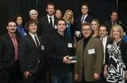One of the winners wasMinneapolis-based marketing agency Fast Horse, which offered its services on a pro bono basis to help CaringBridge launch a service that allows people to coordinate care. That's John Reinan, Fast Horse's senior director of media relations, in the front right; directly behind him is Jörg Pierach, founder and creative director of Fast Horse.