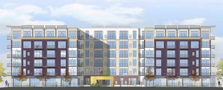 The 216-unit Flux Apartments complex in Uptown is scheduled to open in January 2012.