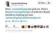Lance Armstrong's tweet.
