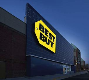 A Best Buy store in Richfield, Minn., where the corporate headquarters is located. Holiday sales were down $100 million. However, Best Buy is projecting free cash flow of $500 million this fiscal year.