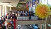 Hundreds of people showed up at the Children's Theatre Co. in Minneapolis for the 2012 General Mills annual meeting. Shareholders were greeted with a buffet of cereal, yogurt, snack bars and chips.