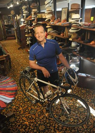 Marty Mathis bikes to work in Minneapolis from Edina.