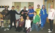 Staff at Blue Earth Internet celebrated Track Suit Friday.