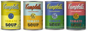 "Target is selling these limited-edition Campabell's Soup cans in honor of the 50th anniversary of Andy Warhol's iconic ""Campbell's Soup Cans"" painting."