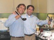 Matt and Mike Tobin enjoy CresaPartners annual Chili Cook-Off.