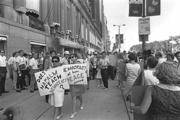 Demonstrators marching during the 1968 Democratic National Convention, Chicago. August 1968. (Courtesy Minnesota Historical Society. Photo by Earl Seubert)
