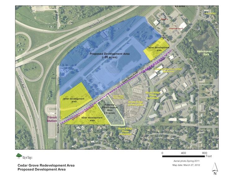 A map of where the proposed outlet mall would be located.