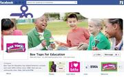 """No. 10 Box Tops for Education 2012 """"Likes"""": 897,000 2011 """"Likes"""": Not available 2011 rank: Not ranked Increase: Not available"""