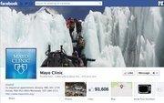 """No. 41 Mayo Clinic 2012 """"Likes"""": 94,000 2011 """"Likes"""": 50,000 2011 rank: 27 Increase: 88 percent"""