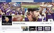 "No. 7 Minnesota Vikings 2012 ""Likes"": 1.32 million 2011 ""Likes"": 985,000 2011 rank: 6 Increase: 34 percent"