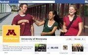 "No. 40 University of Minnesota 2012 ""Likes"": 98,000 2011 ""Likes"": 74,000 2011 rank: 23 Increase: 32 percent"