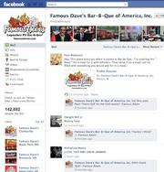 No. 17 —  Famous Dave's —  Likes: 143,000