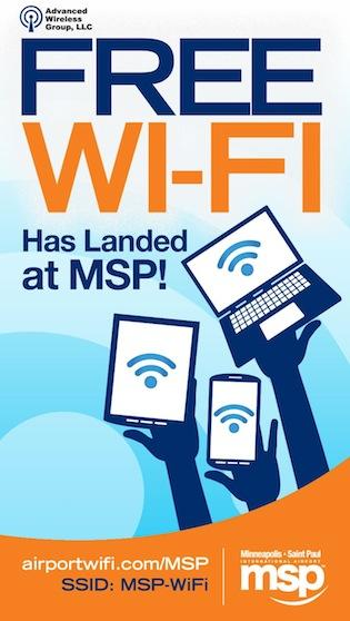 Free Wi-Fi Internet service is now available at Minneapolis-St. Paul International Airport.