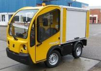 An example of one of the electric utility vehicles produced by Goupil Industrie SA, which Polaris is buying.