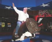 At a training team outing, Intertech Partner Dan McCabe rode the mechanical bull at Mall of America's Cadillac Ranch.