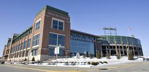 Lambeau Field, where the Green Bay Packers play.