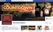 """No. 4University of Minnesota Gophers (one page for all sports)179,000 Facebook """"likes"""""""