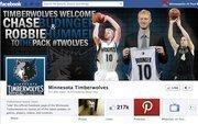 "No. 3Minnesota Timberwolves218,000 Facebook ""likes"""