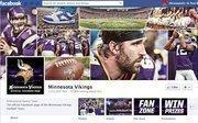 """No. 1Minnesota Vikings1.35million Facebook """"likes"""""""