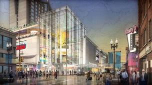 A rendering of what Minnesota Live would look like at Block E.