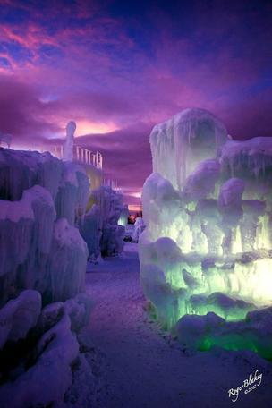 An image of a 2012 ice castle in Colorado.