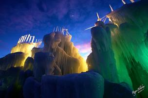 This ice castle that was built in Silverthorne, Colo., last year is similar to what the one at Mall of America will look like.