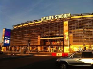 The New York Giants and the New York Jets are trying to stop the owners of the Mall of America from building a megamall across from their new stadium (MetLife Stadium, which is pictured) in East Rutherford, N.J.