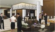 A rendering of a lounge at theMillennium Hotel.