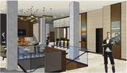 A rendering of the renovated lobby at theMillennium Hotel.